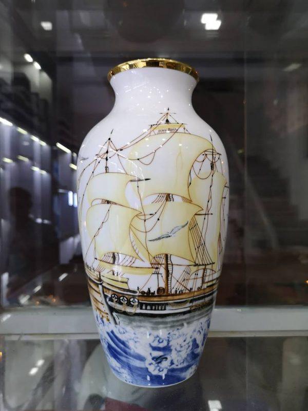 bình hoa gốm sứ Minh Long
