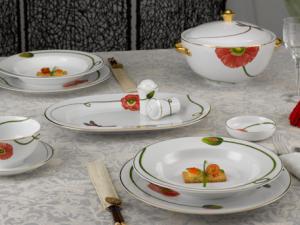 Bộ đồ ăn Minh Long Camelia Kết Duyên 23 Sản phẩm