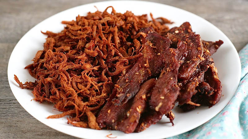 Cách làm khô bò từ thịt heo như đầu bếp | món ngon nhâm nhi ngày mưa